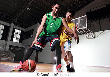 Basketball carry ball for shoot score