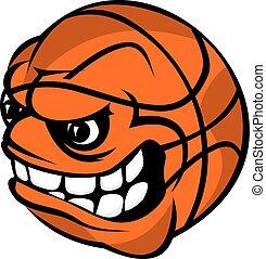Basketball cartoon ball