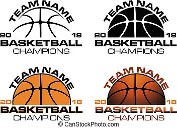 Basketball Champions Designs With Team Name