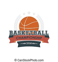 Basketball championship emblem vector.