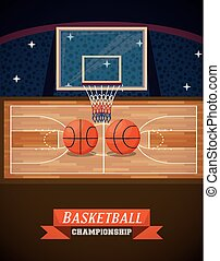 Basketball championship sport game card