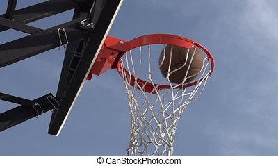 Basketball Championship - The ball enters the basket...