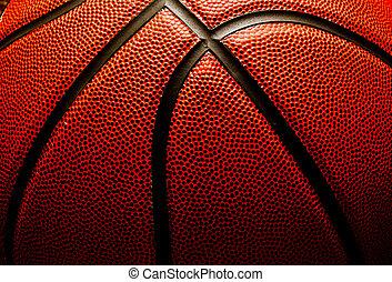 basketball, closeup
