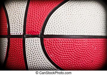 Basketball closeup