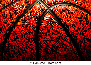 Basketball closeup
