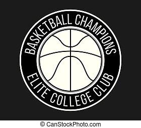 Basketball club white on black