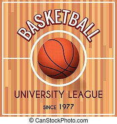 Basketball college or university league poster