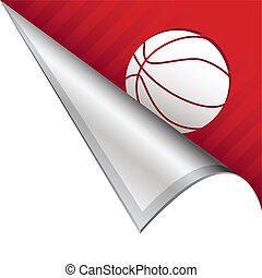 Basketball corner tab - Basketball sports icon on vector...
