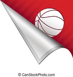 Basketball corner tab - Basketball sports icon on vector...