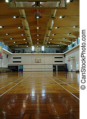 Basketball court - A perspective view of basketball court