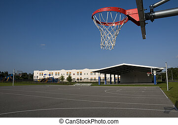Basketball Court at School