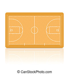 Basketball court - Detailed vector illustration of a ...