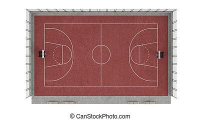 Basketball court isolated on white background