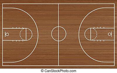 Basketball court floor