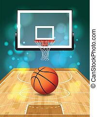 Basketball Court Illustration - An illustration of a...