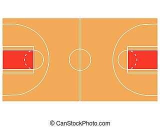 Basketball court illustration