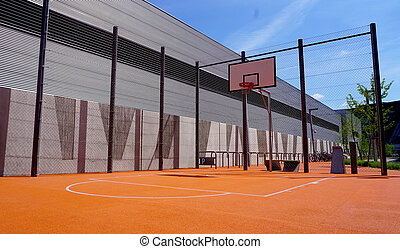 Basketball court outdoor public