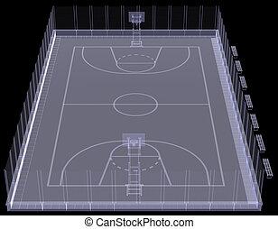 Basketball court. X-ray