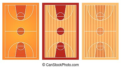 Basketball courts with different floor design