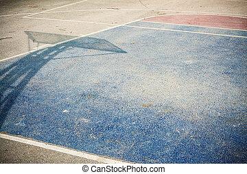 Basketball Courtyard Asphalt - Details of a basketball...