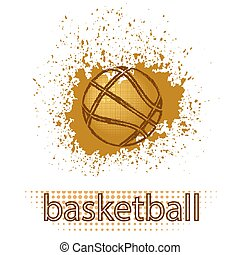 Basketball Creative Grunge Logo