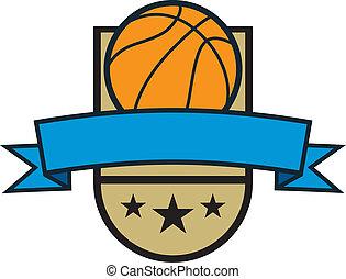 Basketball Crest Banner