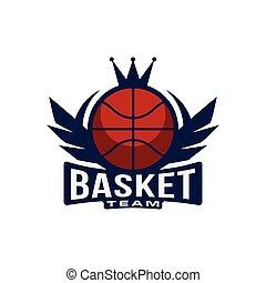 Basketball Crown Sport Club Symbol