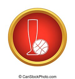 Basketball cup icon, simple style