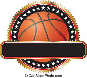 Basketball Design Emblem Stars