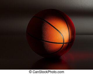 basketball, dramatisch, beleuchtung