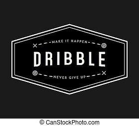 basketball dribble white on black