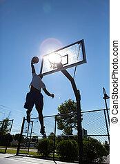 Basketball Dunker Silhouette