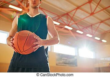 basketball dziedziniec, wole, człowiek