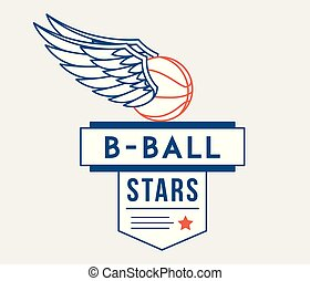 Basketball elite stars is a vector illustration about sport