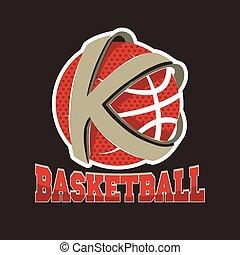 basketball, emblem, mannschaft