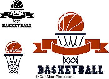 Basketball emblems and symbols - Basketball emblems or...