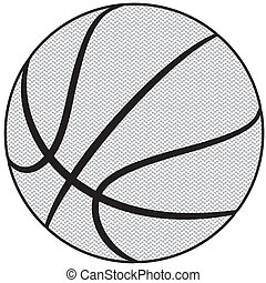 basketball - illustration of a basketball outline isolated...