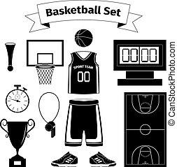 Basketball equipment set