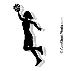Basketball Female Silhouette