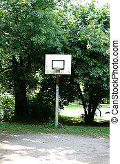 Basketball field at the park