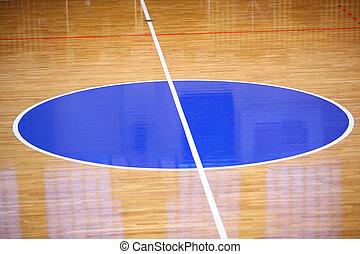 Basketball field background