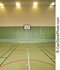 Basketball field - Interior of a bsketball field