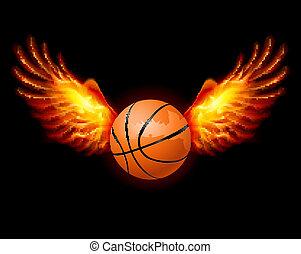 basketball-fiery, vleugels