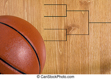 Basketball Final Four Bracket and Ball - A final four...