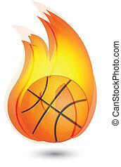 Basketball flames logo
