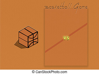 Basketball game, graphic, illustration