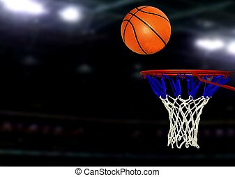 Basketball games under Spotlights