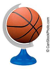 Basketball globe