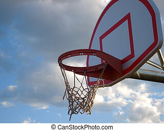 Basketball Goal on a Cloudy Day