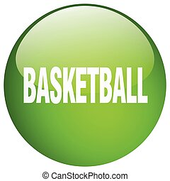basketball green round gel isolated push button
